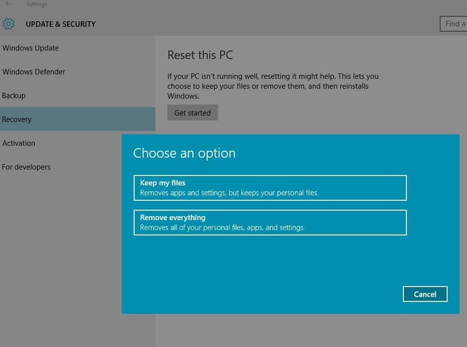 Clean Windows 10