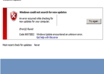 error code 80072ee2