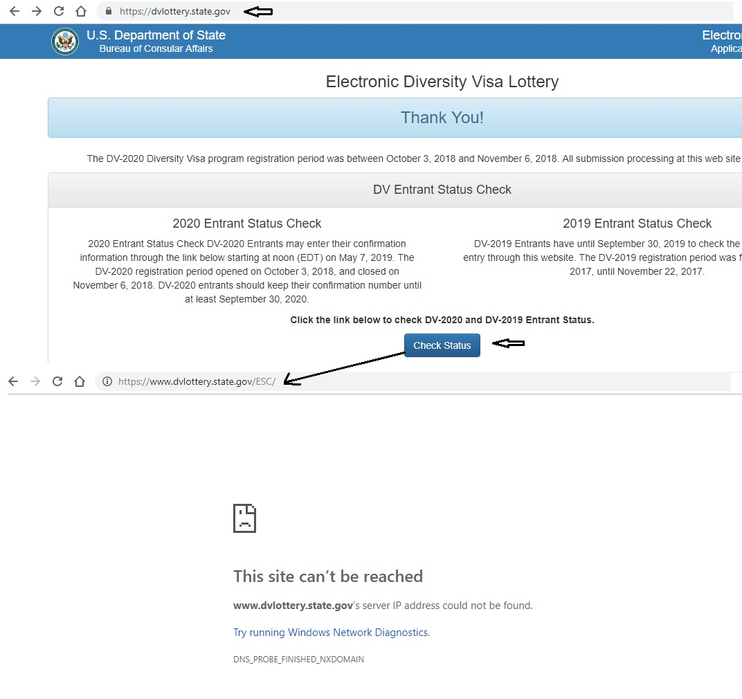 Electronic DV Lottery 2020 Website Down! | Index Of Apps