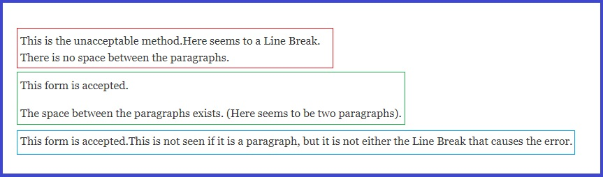 "Solve ""Too Many Line Breaks..."""