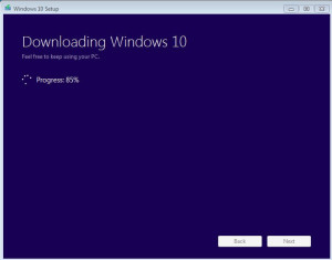 Manually download and install Windows 10
