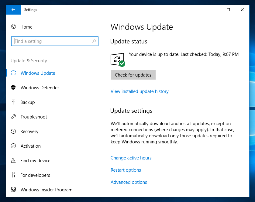 installing updates manually in windows 10