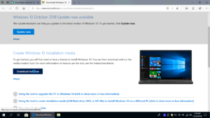 Download a copy of Windows 10 from Microsoft