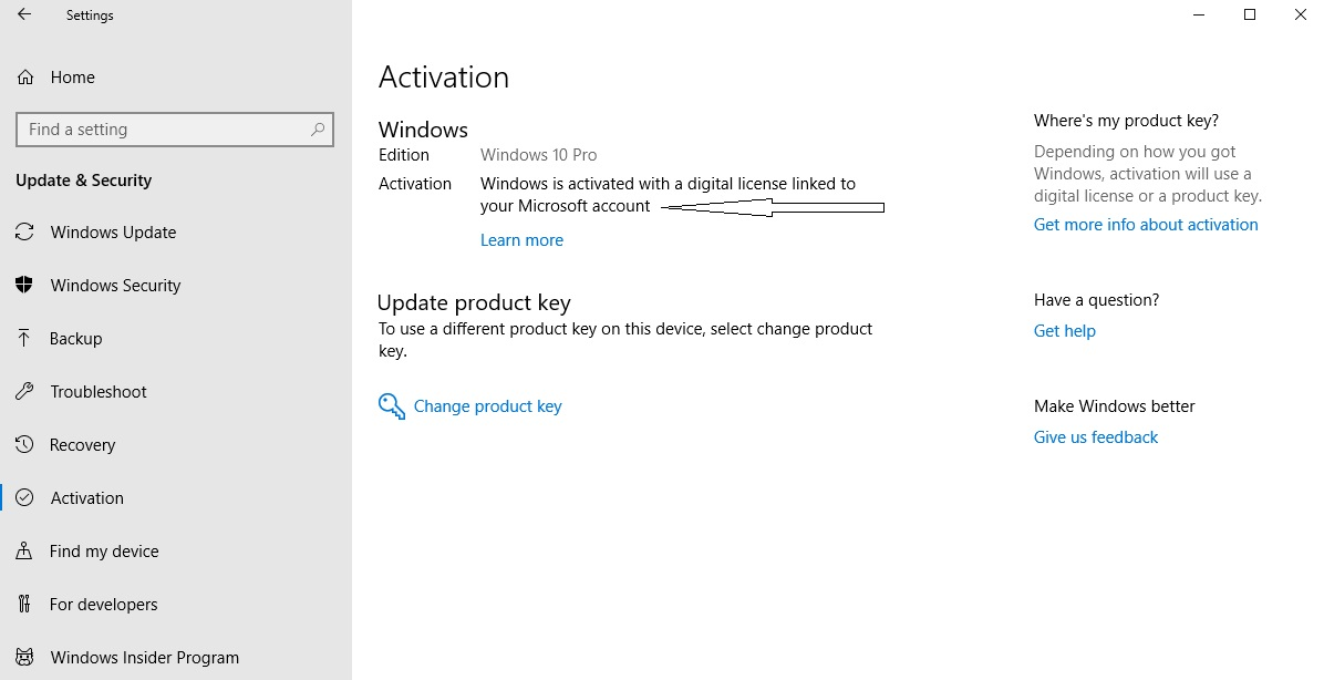 How to use the same Windows 10 digital license when you reset