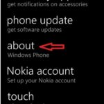 Windows Phone 8 reset tap about