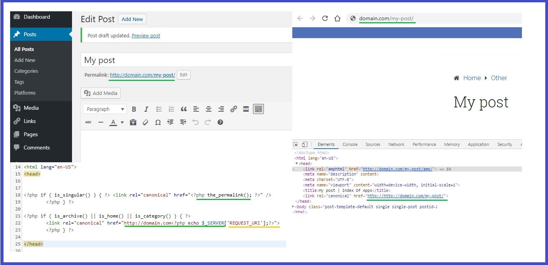 generate canonical URLs in Wordpress without plugin