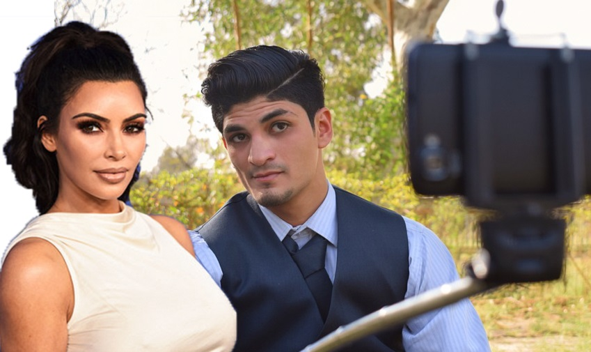 Selfie with Kim Kardashian
